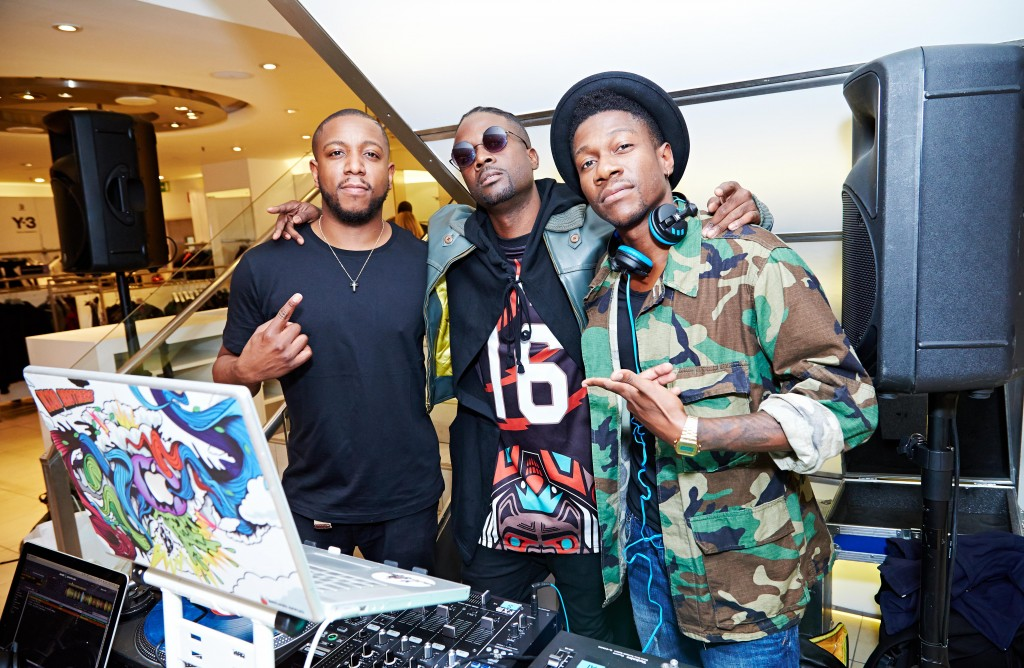 The Dickson Brothers & Gianni Lee at Harvey Nichols Mens Contemporary Launch with VFiles Sport+