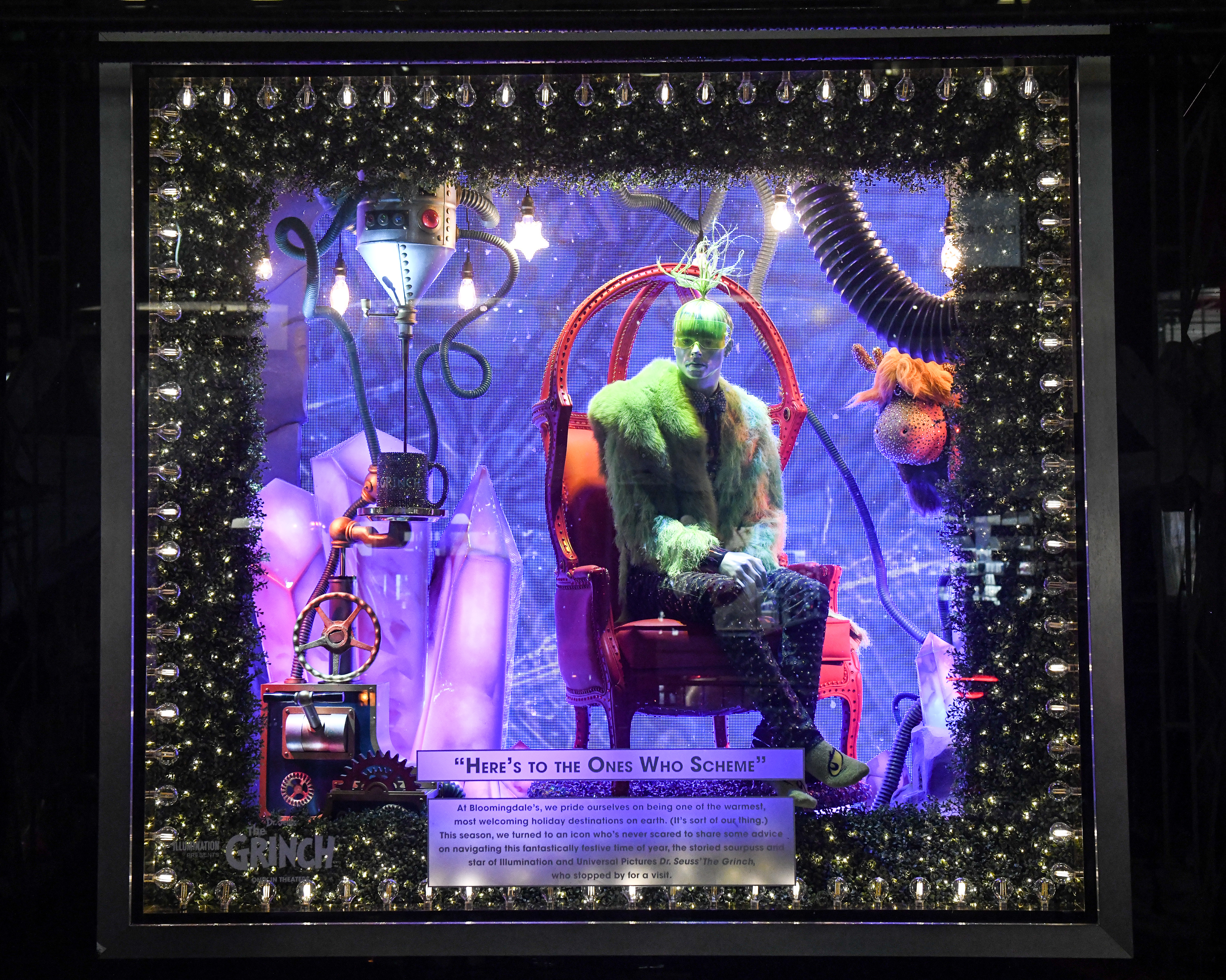 Lexington Avenue Onlookers Are Taken To The Cheerful Town Of Whoville Interactive Elements And Visually Stunning Displays Inspired By Movie