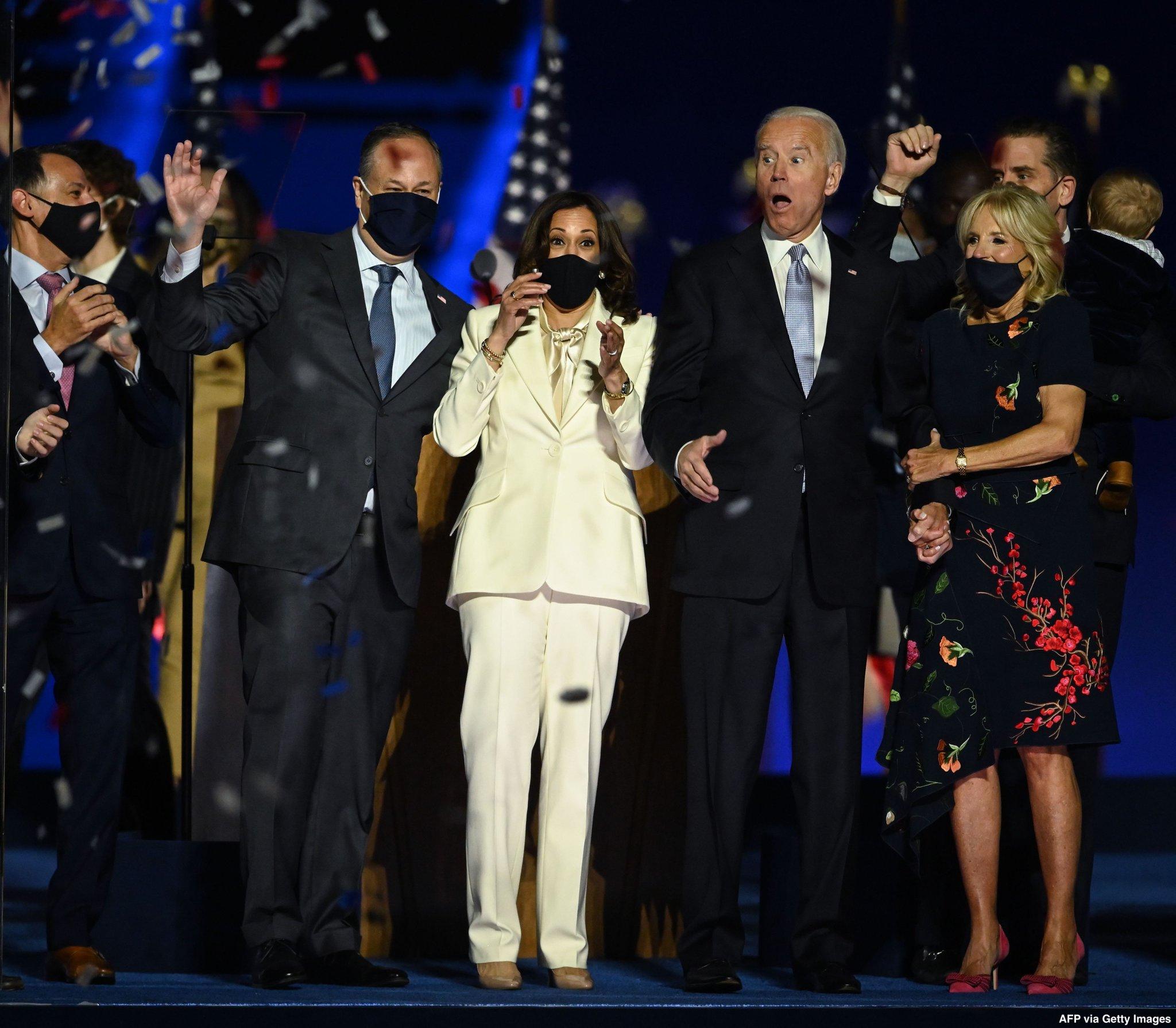 Dr Jill Biden Makes Her First Appearance Wearing Oscar De La Renta Front Row Edit By Cameron Tewson
